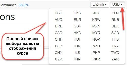 kurs kriptovalut в каких единицах показывать курс